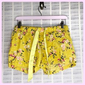 Old Navy Yellow Floral Shorts